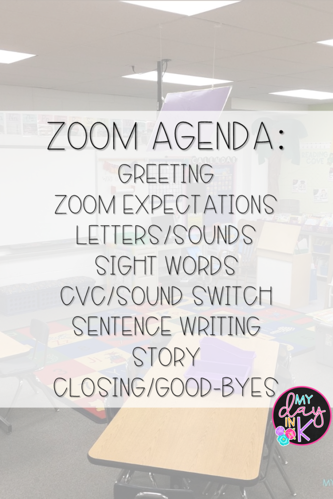 How To Teach Kindergartners On Zoom My Day In K